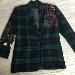 Canvasbacks Vintage Wild Plaid Wool Jacket Size S